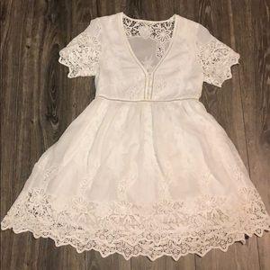 Spell White Eyelet Embroidered Dress